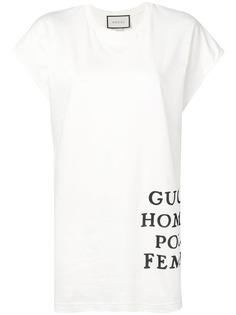 Gucci футболка оверсайз с принтом