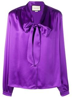 Gucci блузка с бантом