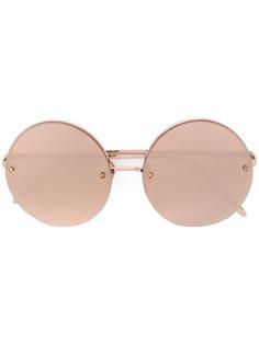 Linda Farrow солнцезащитные очки в круглой оправе