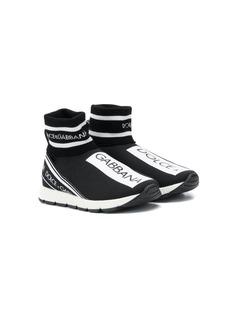 Dolce & Gabbana Kids высокие кроссовки с логотипом
