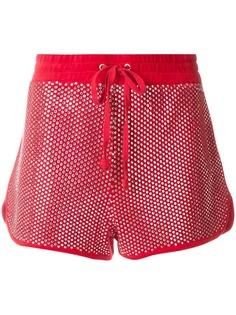 Juicy Couture велюровые шорты с кристаллами Swarovski