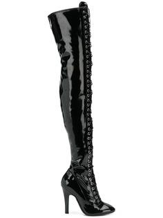 Moschino ботфорты на шнуровке
