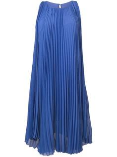 Max Mara расклешенное платье со складками