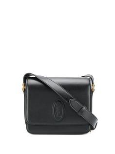 Saint Laurent сумка на плечо с тисненым логотипом