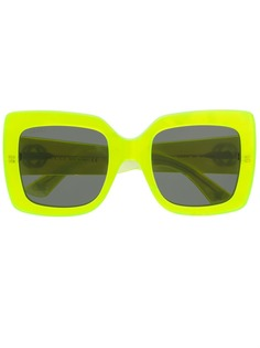 Gucci Eyewear солнцезащитные очки в прямоугольной оправе