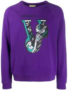 Versace Jeans свитер с логотипом V