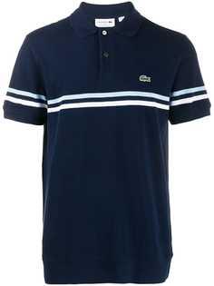 Lacoste рубашка-поло с логотипом и полосками