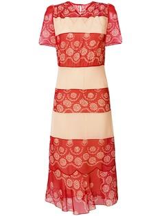 Maison Margiela платье миди с цветочной отделкой