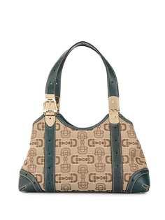 Gucci Pre-Owned жаккардовая сумка Horsebit