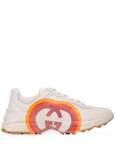 Gucci кроссовки Rhyton с логотипом