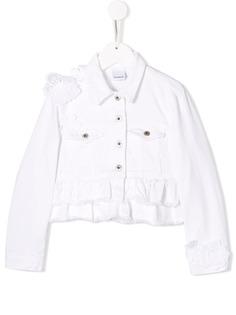 Dondup Kids джинсовая куртка с оборками