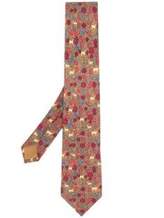 Hermès Pre-Owned галстук с цветочным узором