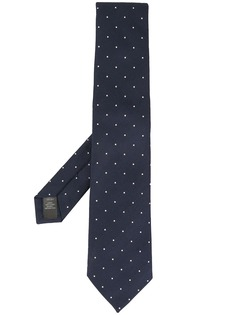 Gieves & Hawkes галстук с вышитым узором в горох