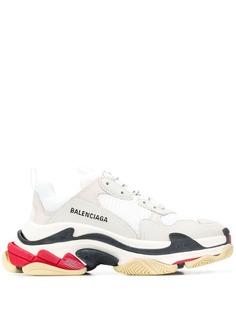 Balenciaga кроссовки Triple S на трехцветной подошве