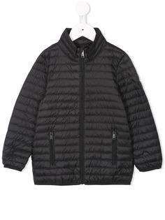 Emporio Armani Kids стеганая куртка на молнии