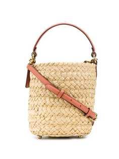 Coach соломенная сумка-тоут