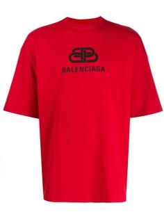 Balenciaga футболка с логотипом BB
