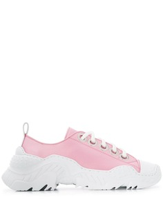 Nº21 атласные кроссовки на массивной подошве