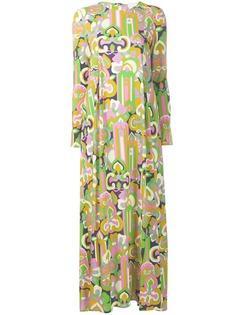La Doublej платье макси с длинными рукавами и принтом