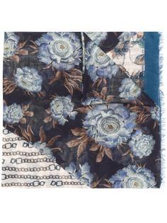 Salvatore Ferragamo шарф с цветочным принтом