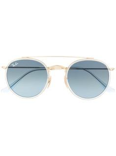 Ray-Ban солнцезащитные очки в круглой оправе с двойным мостом