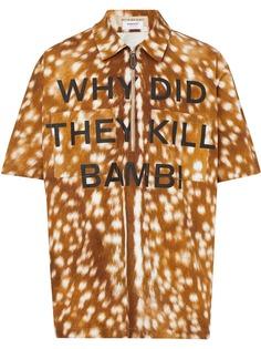 Burberry рубашка с принтом