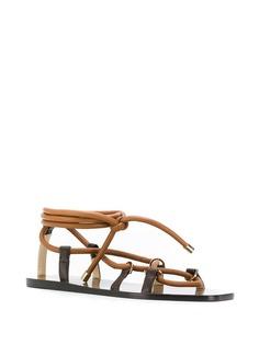 Jimmy Choo сандалии Aziza на плоской подошве