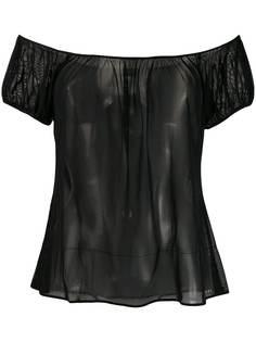 Chanel Pre-Owned блузка 2001-го года с открытыми плечами