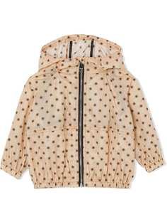 Burberry Kids легкая куртка с капюшоном и принтом