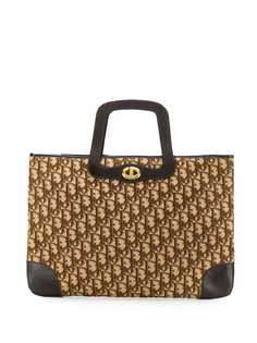 Christian Dior Pre-Owned жаккардовая сумка-тоут 1990-х годов