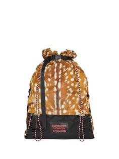 Burberry рюкзак на шнурке с принтом