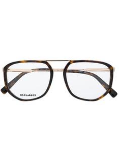 Dsquared2 Eyewear массивные солнцезащитные очки