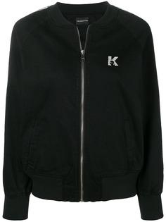 Karl Lagerfeld спортивная куртка-бомбер с логотипом
