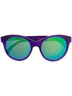 Illesteva солнцезащитные очки в круглой оправе с зеркальными линзами