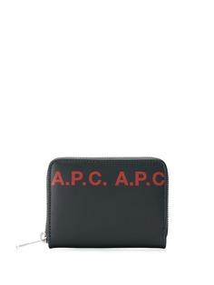 A.P.C. кошелек с логотипом