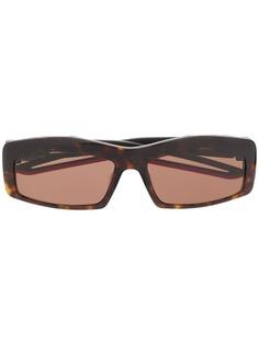 Balenciaga солнцезащитные очки Hybrid в прямоугольной оправе