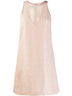 Emporio Armani платье-трапеция мини с пайетками