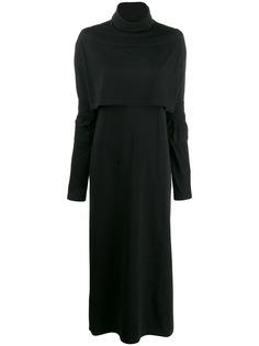 Mm6 Maison Margiela платье макси из джерси с высоким воротником