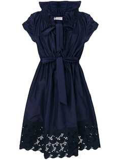 Lanvin платье с кружевной отделкой