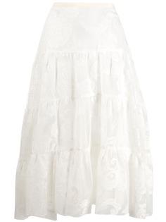 See By Chloé ярусная юбка с цветочным принтом