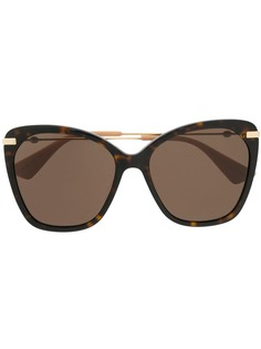 Gucci Eyewear солнцезащитные очки в массивной оправе