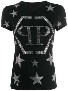 Philipp Plein футболка с кристаллами