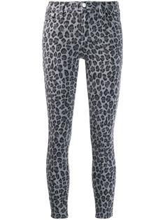 J Brand джинсы скинни с леопардовым принтом