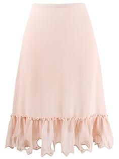 See By Chloé юбка с декорированным подолом