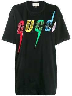 Gucci футболка с логотипом Gucci Blade