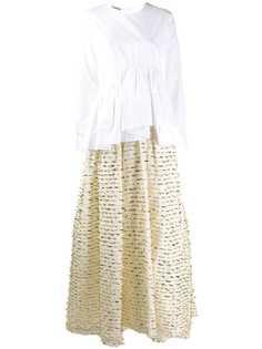 Jourden вечернее платье-рубашка асимметричного кроя
