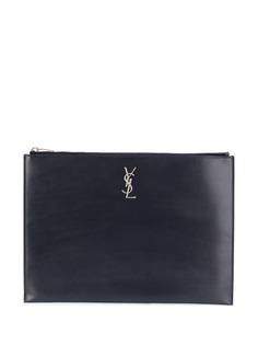 Saint Laurent клатч с логотипом