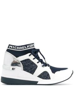 Michael Michael Kors кроссовки на танкетке со вставками