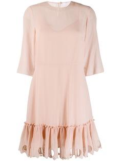 See By Chloé платье с оборками на подоле