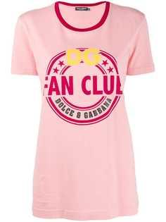 Dolce & Gabbana футболка с принтом Fan Club